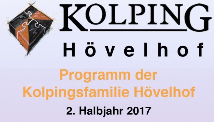 Programm zweite Jahreshälfte 2017